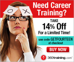 Train for a new career and take 14% Off!