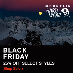 Black Friday Sale! Up to 25% Off Select Styles at MountainHardwear.com! Plus, free shipping on all o