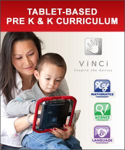 teach child education with iPad tablet