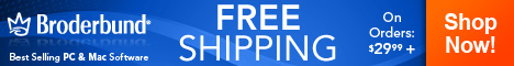Free Shipping on Broderbund Software