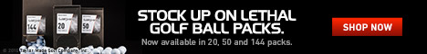 Stock up on lethal golf ball packs from TaylorMade in 20, 50 and 144. Shop Now.