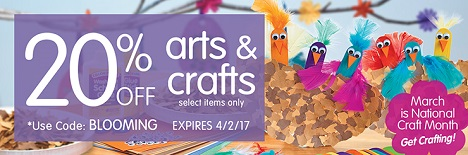 Arts & Crafts Sale - Save 20% Off Select Arts & Crafts Items & Get Free Shipping On Stock Orders Ove