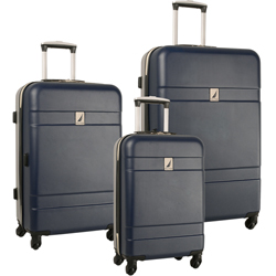 -Nautica Port Harbour -3 Piece Hardside Spinner Luggage Set Now Only $194.97 Org. $1,040.00 Plus Free Shipping. Use Promo Code NTPH