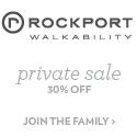 30% Off during the Rockport Private Sale! Sale val