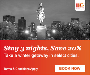 Book Early & Save up to 20% Off IHG hotels!