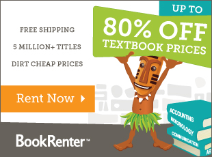 Save 80% and Get Free Shipping - Rent Now