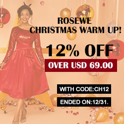 ROSEWE CHRISTMAS WARM UP!12% OFF OVER USD 69.00,WITH CODE:CH12,ENDED ON:12/31.