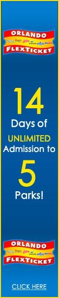 Orlando Flex Ticket 14 Days Unlimited Admission to 5 Theme Parks!
