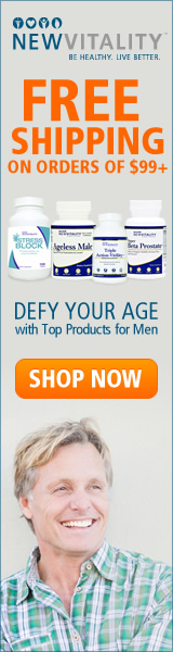 Defy your age with top supplements for men and get FREE SHIPPING on orders of $99+ from New Vitality