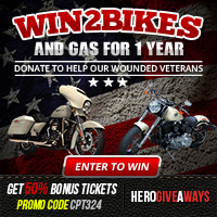 Enter To Win 2 Harleys & Year of Free Gas!