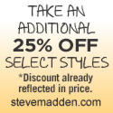 Additional 25% Off Select Steve Madden Styles