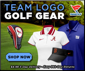 Show your team pride on the links with Team Logo Golf Gear from Fanatics