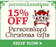 15% off Personalized Holiday Gifts and Decor from Personal Creations - 180x150