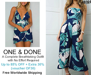 ONE & DONE A Complete Breathtaking Outfit with No Effort Required Up to 85% OFF + Extra 30% OFF