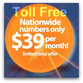 $39 Nationwide Toll Free!