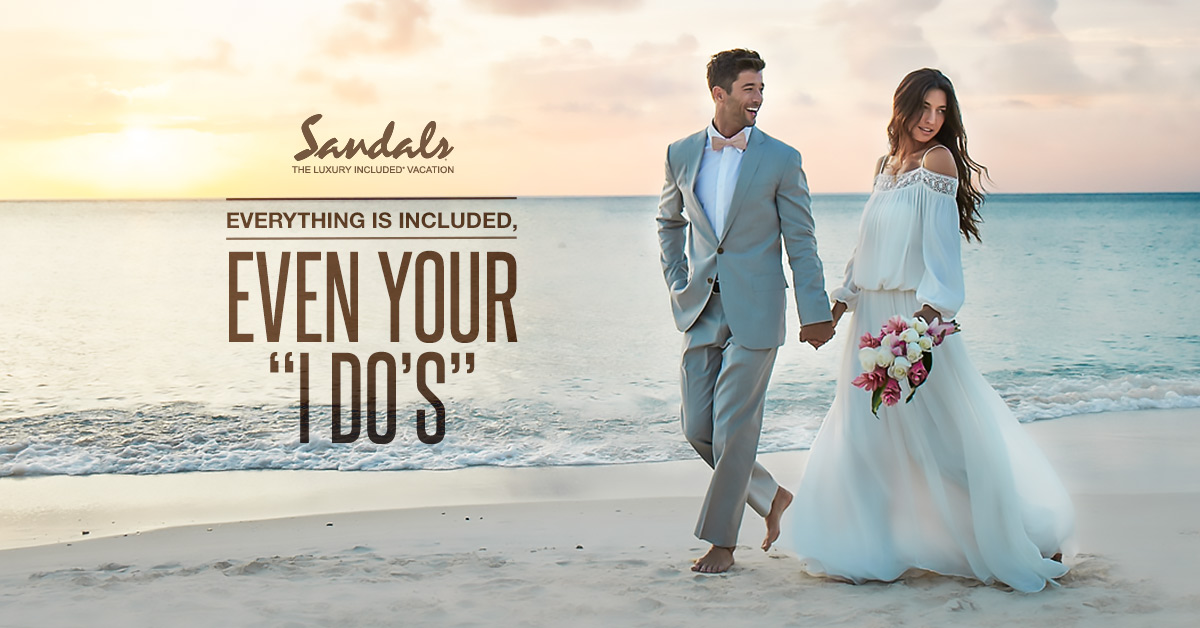 FREE Wedding & Honeymoon at Sandals Resorts