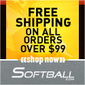 Free Shipping on all orders over $99 Softball.com