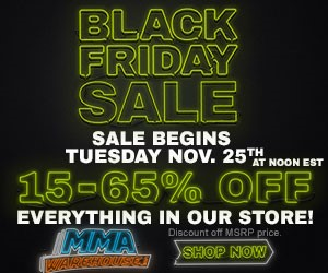 Up 65% off Sitewide During Black Friday Sale at MMAWarehouse.com!
