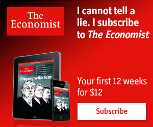 The Economist $12 for the first 12 weeks!
