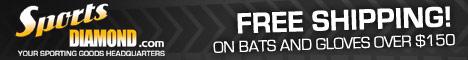 Free Shipping on Baseball Bats & Baseball Gloves Over $150