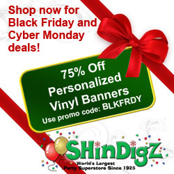 Black Friday - 75% off vinyl banners