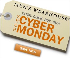 Shop Cyber Monday Deals at Men's Wearhouse