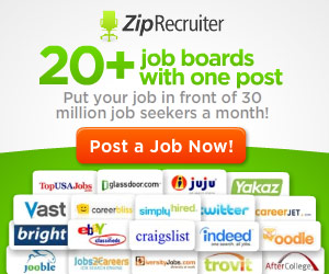 Post your jobs free with Zip Recruiter!