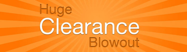 Up to 92% Off Clearance items, most below cost!