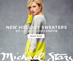 Save on Sweaters at Michael Stars! Take $10 off with code: COZY10. Ends 12/26/13. Shop now!