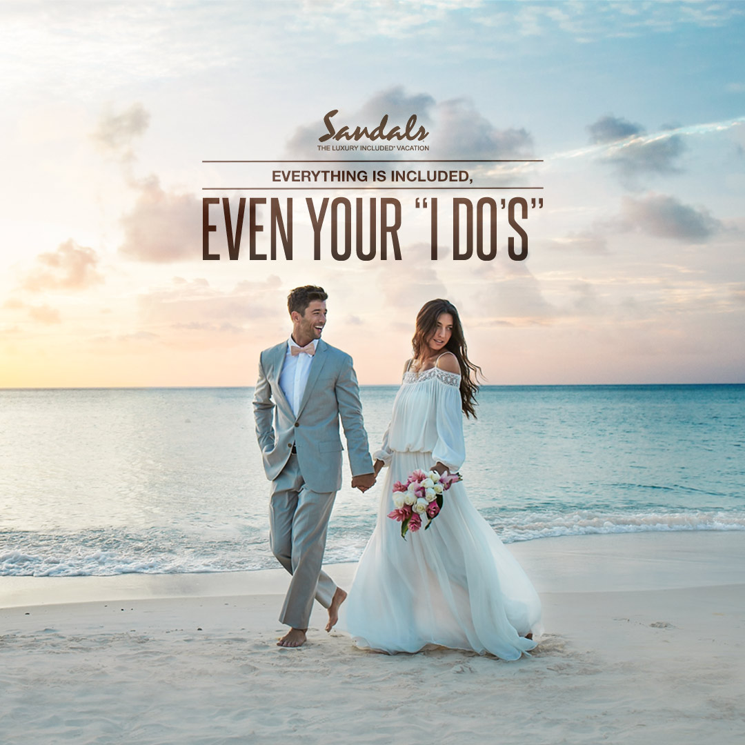 FREE Wedding & Honeymoon at Sandals Resorts