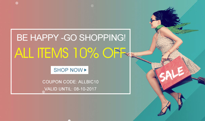 Be happy go shopping with All Items 10% off! Use this great opportunity to buy your favorite items!