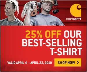 25% off Carhartt's best selling styles for Spring!