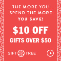 The More You Spend The More You Save $10 Off Gifts Over $50