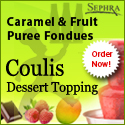 Sephra Caramel & Coulis Fruit Fondues
