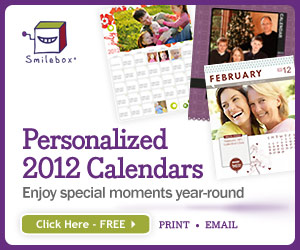 Personalized 2012 Calendars from Smilebox