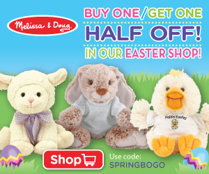 SAVE 25% -Buy One Get One Half Off All Products In Our Easter Shop!