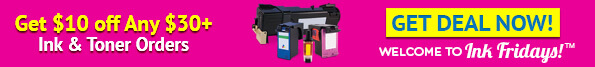 Get $10 off any $30+ Ink & Toner Orders