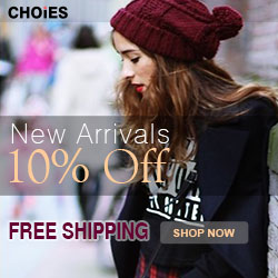 New arrivals 10% off at Choies, free shipping worldwide