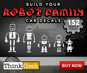 Robot Family Car Decals