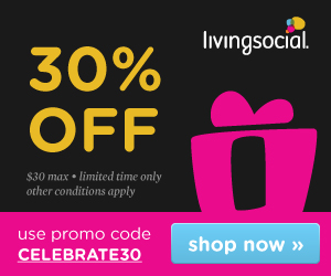 Take 30% off your next purchase* on LivingSocial.com when you use promo code