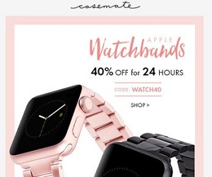 40% Off Apple Watch Bands Case-mate