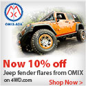 Style your Jeep and save 10% with Jeep Fender Flares from OMIX