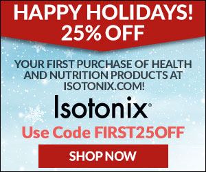 Image for (ISO) Holiday Special! New Customers get 25% off their first purchase at Isotonix.com! Use Code FIRST25OFF. $25 max savings. Free Ship on $99. Shop Now! (Valid thru 12/31)