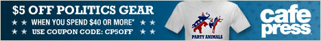 $5 off Political Gear from CafePress on orders $40