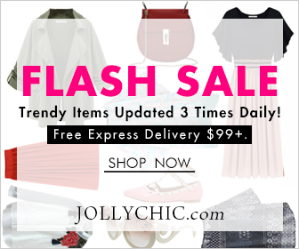 Celebrate Thanksgiving Day with JollyChic.com! Receive 10% Off on purchase of $200 or more by using coupon code: thx26 at JollyChic.com. This coupon is valid through November 27th.