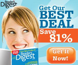 Get 81% off Reader's Digest Magazine