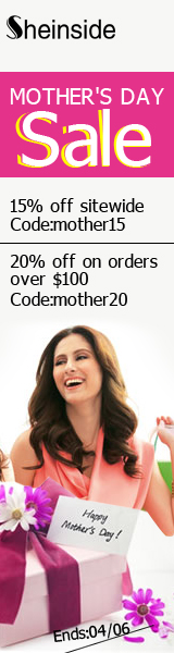 Save up to 20% this Mother's Day at SheInside.com