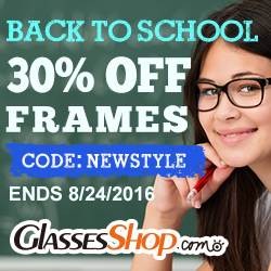 Back to School In Style at GlassesShop! Promo ends 8/24/2016