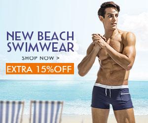 15% Off Men's Swimwear New Arrival