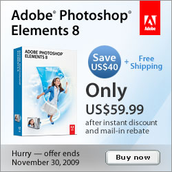 Adobe Photoshop Elements 8 for Win only $59.99